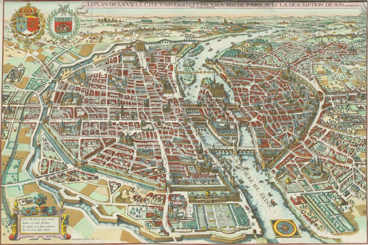 Historická mapa Paříže