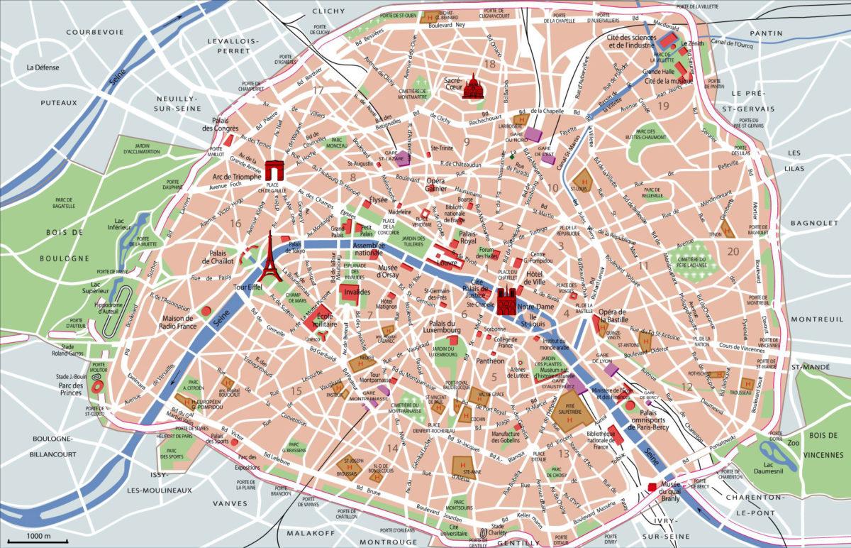 To nejlepší z Paříže na mapě