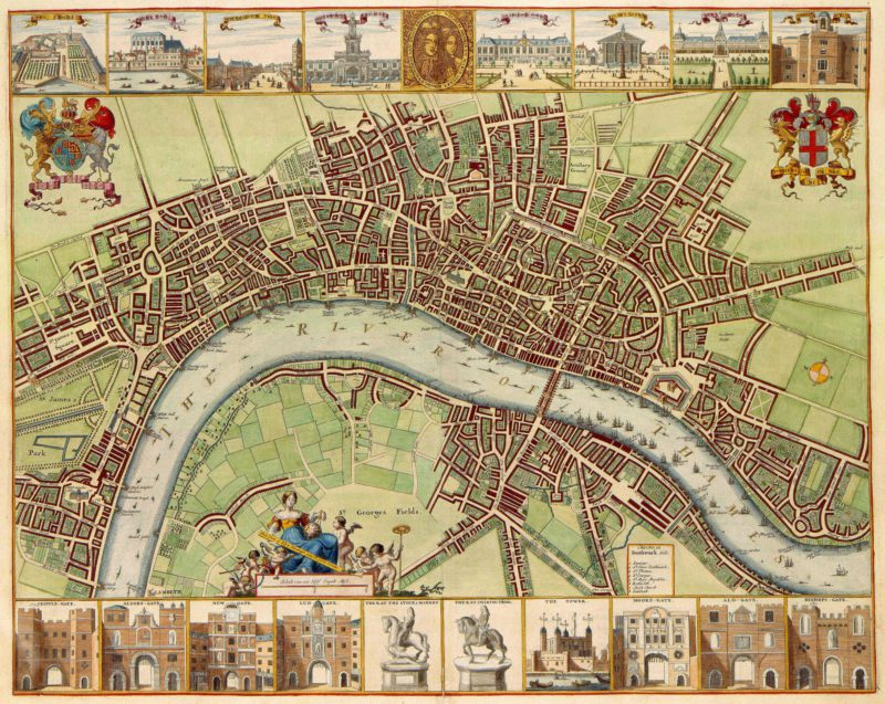 Map of medieval London.