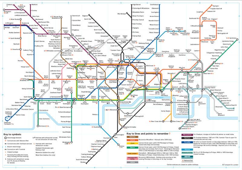 Mapa Londýnského metra