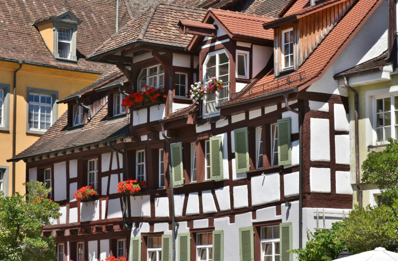 Typický dům v Meersburgu.