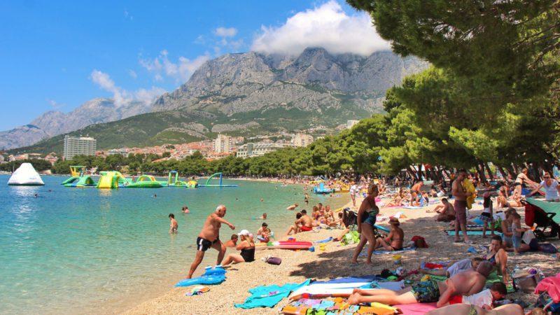 Webkamera Tučepi online - záběry z pláží.