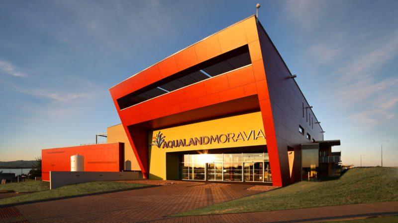 Aqualand Moravia v Pasohlávkách hlavní vstup