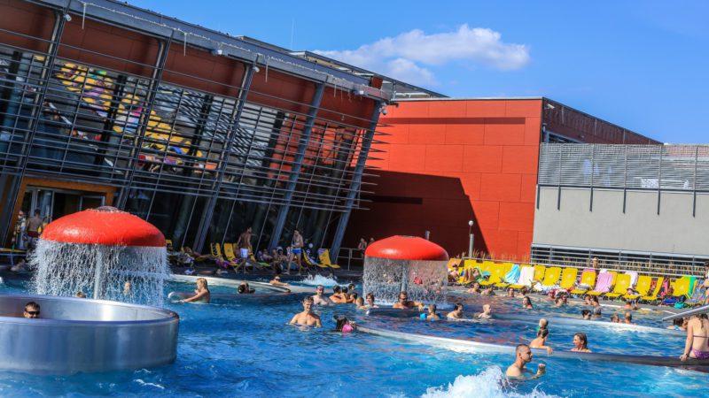 Venkovní bazény Aqualandu Moravia