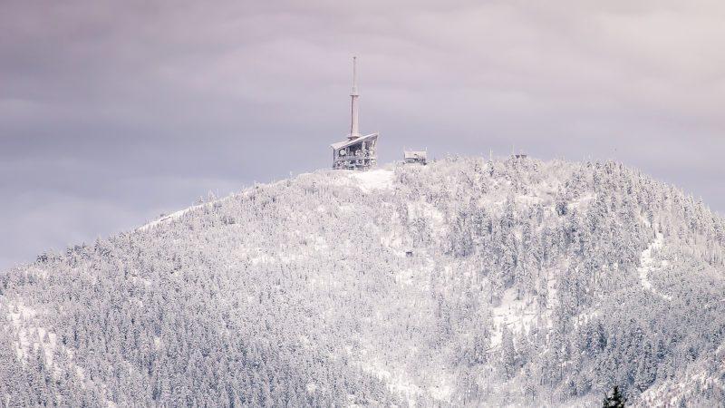 Krásná Lysá hora v zimě.