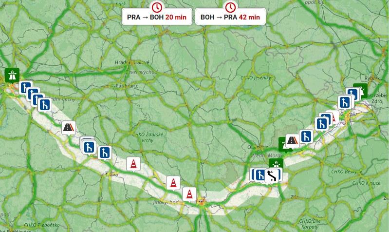 Dálnice D1 aktuálně – Kamery, kolony, doprava z webu DD.cz