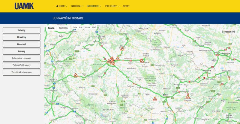 Mapa dopravy od UAMK.