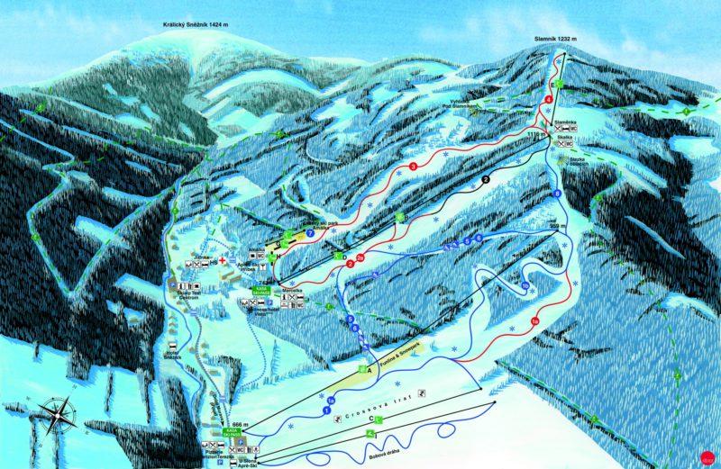 Mapa Ski Dolní Morava.