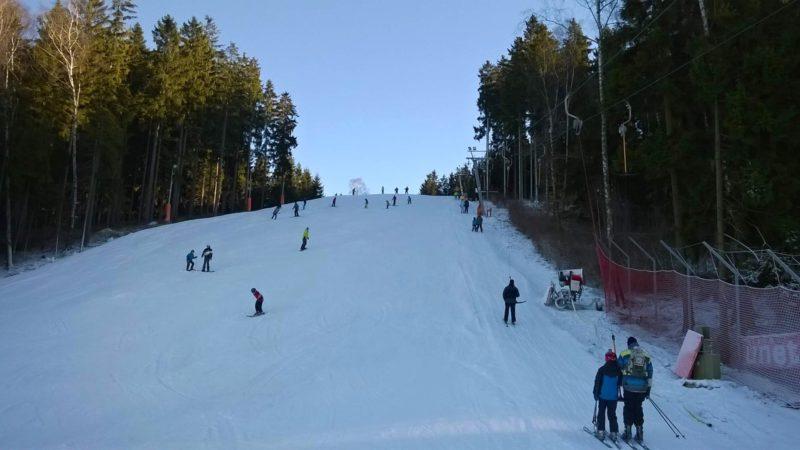 Krásné sjezdovky ve Ski Hlinsko