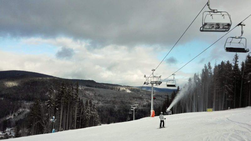 Výhled na areál Ski Karlov