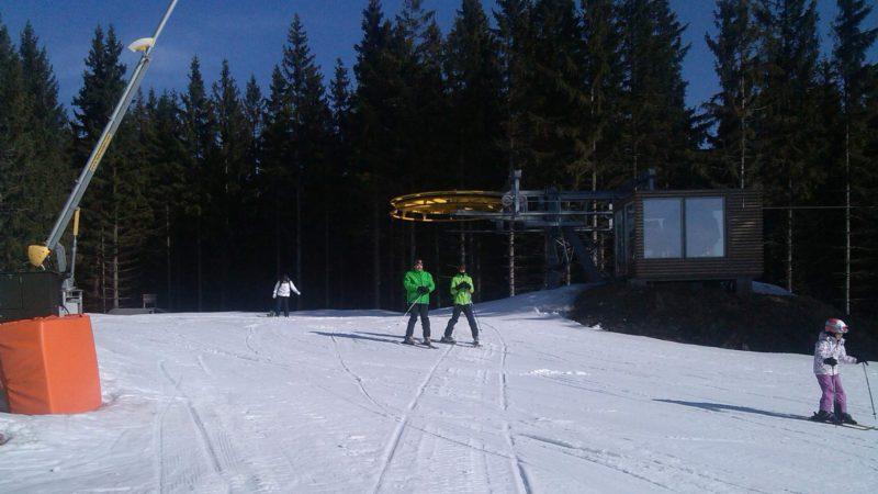 Horní stanice lanovky ve Ski Kopřivná.
