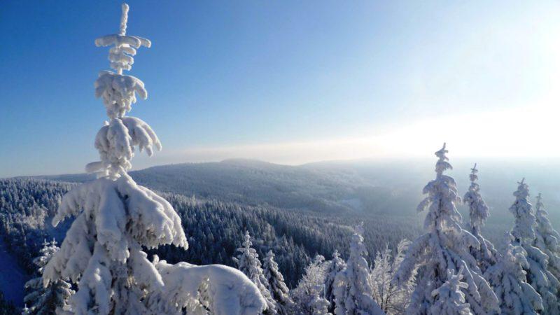 Ski Říčky v Orlických horách a krásná panoramata
