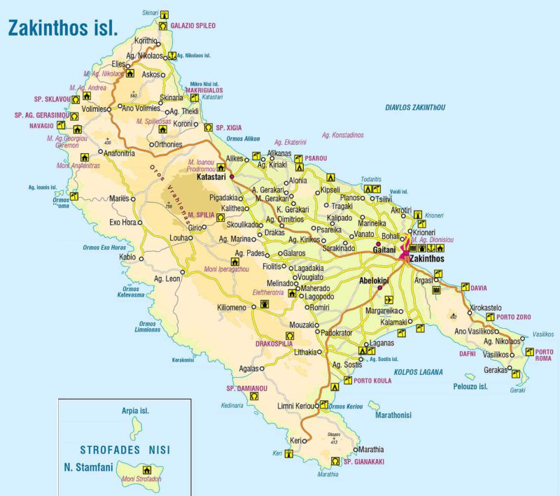 Zakynthos mapa ke stažení