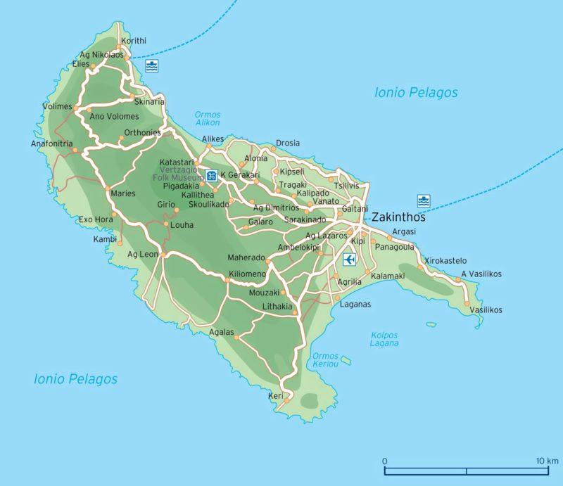 Další krásná mapa oblíbeného ostrova.