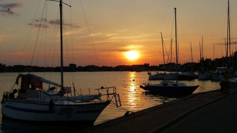 Mazurská jezera a západ slunce