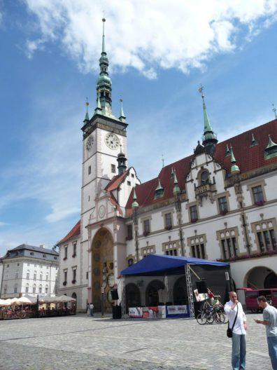Olomoucká radnice s orlojem.