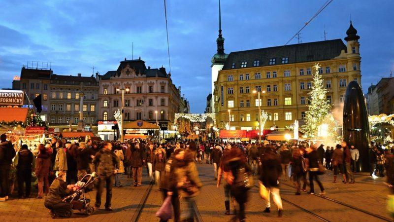 Vánoční trhy v České republice - tady zrovna v Brně