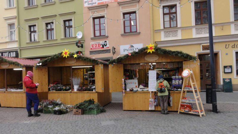 Opavské Dolní náměstí a vánoční trhy