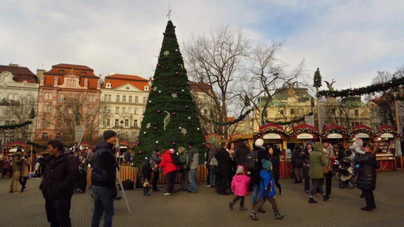 Vánoční trhy – Náměstí Míru jsou opravdu krásné.