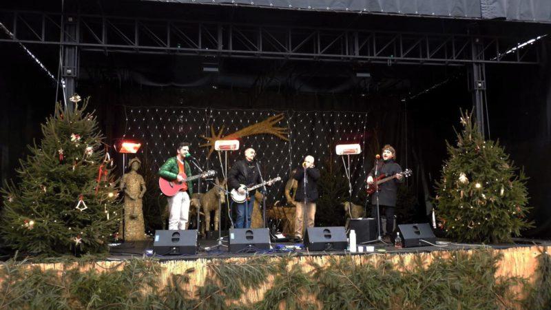 Hudební vystoupení na vánočních trzích v Uherském Hradišti