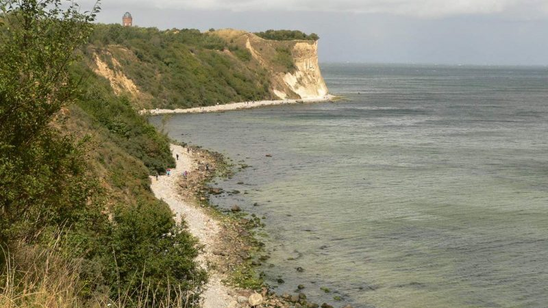 The Baltic can also play the wild coast with cliffs