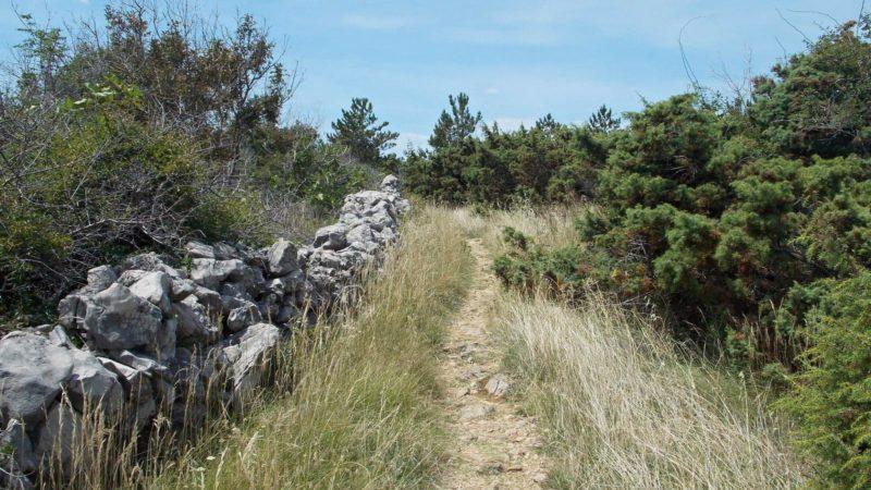 Pohled do vnitrozemí ostrova Krk