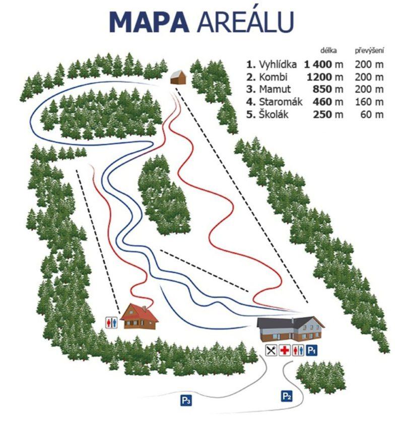 Mapa Ski Malenovice