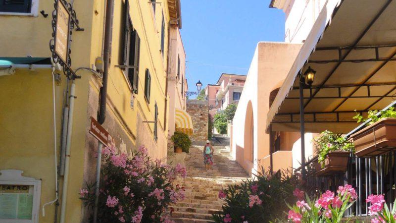 Malebné uličky na ostrově Elba