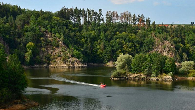 Dalešická přehrada nabízí mnoho krásných míst