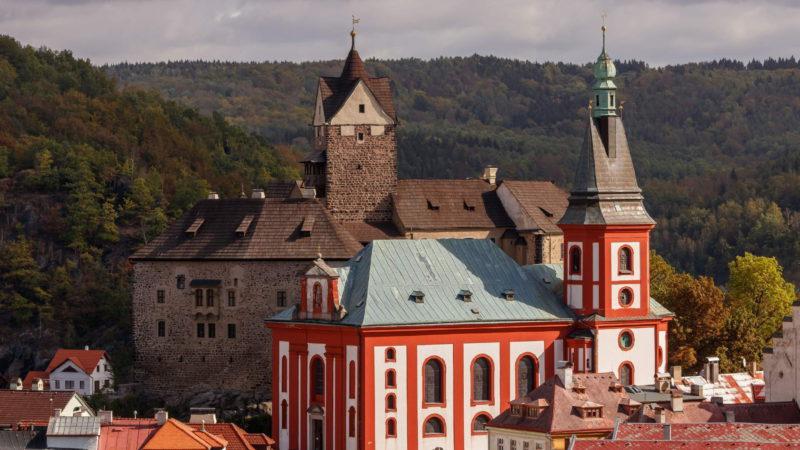 Pohled na město a kostel Sv. Václava