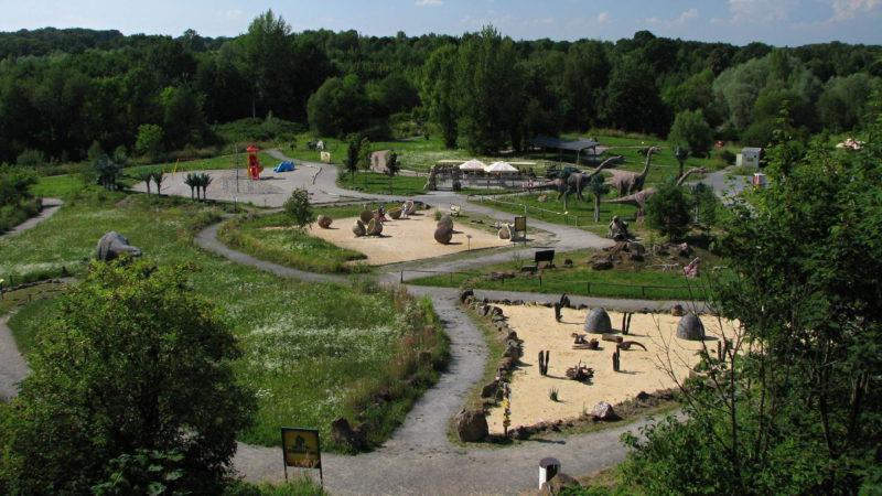 Celkový pohled na Dinopark Ostrava