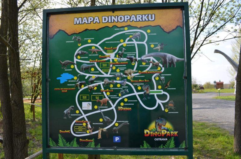 Mapa dinoparku Vyškov