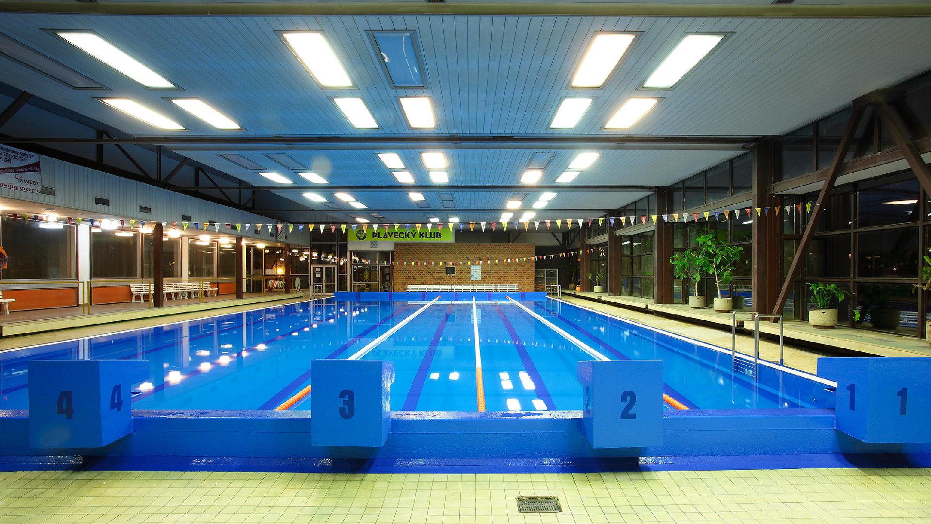 Plavecký bazén Lochotín v Plzni – Průvodce, cvičení, kamera