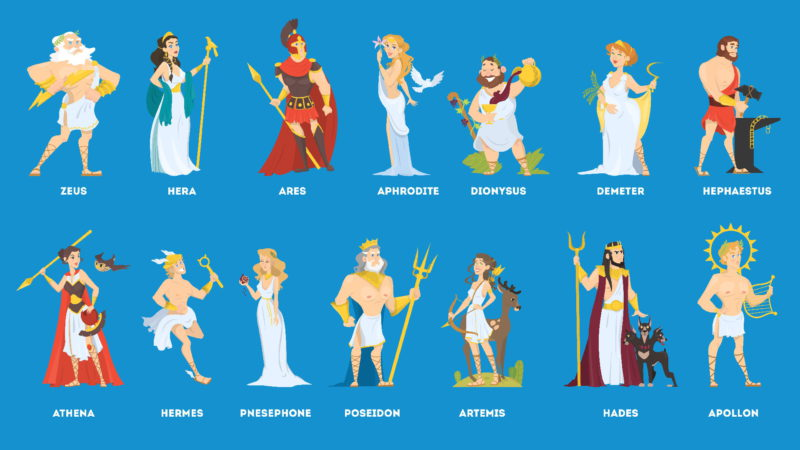 Řečtí bohové z Olympu
