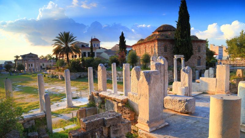 Trosky chrámu zasvěceného řeckým bohům