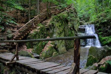 Rešovské vodopády – trasa + mapa, v zimě, autem, kočárkem