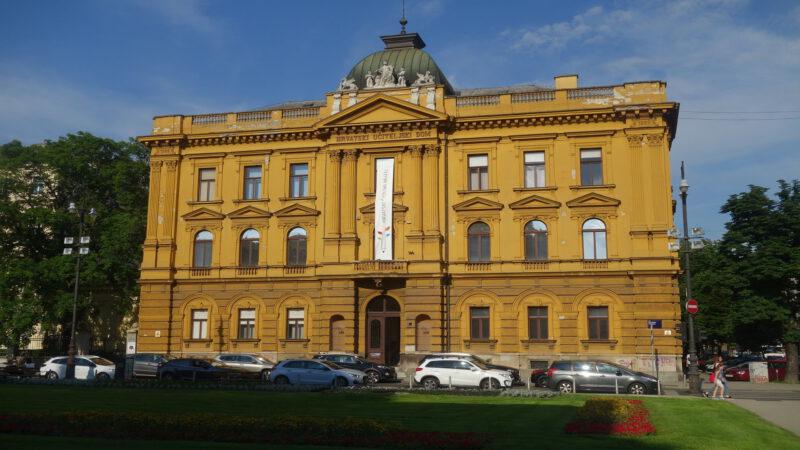Důležitá budova v Záhřebu