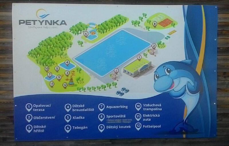 Mapa areálu Petynka pro lepší orientaci