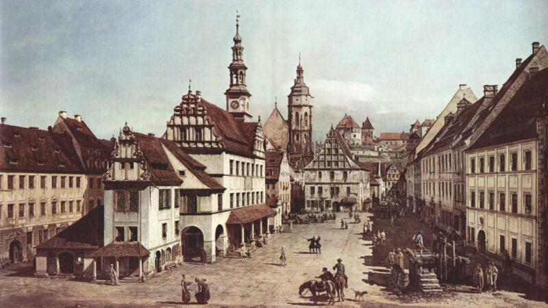 Pohled na historickou Pirnu