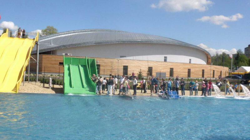 Hlavní bazén je opravdu veliký