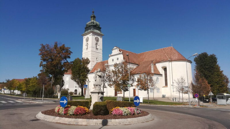Kostel v Retzu je opravdu monumentální