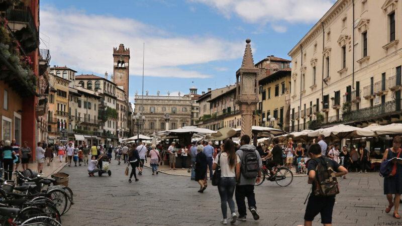 Centrum Verony v severní Itálii