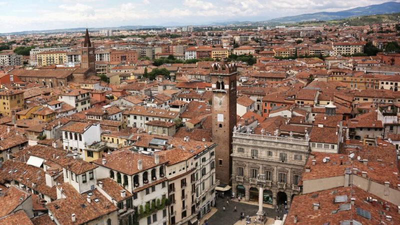 Pohled na město z výšky