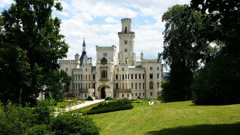 Další nádherný pohled na zámek Hluboká
