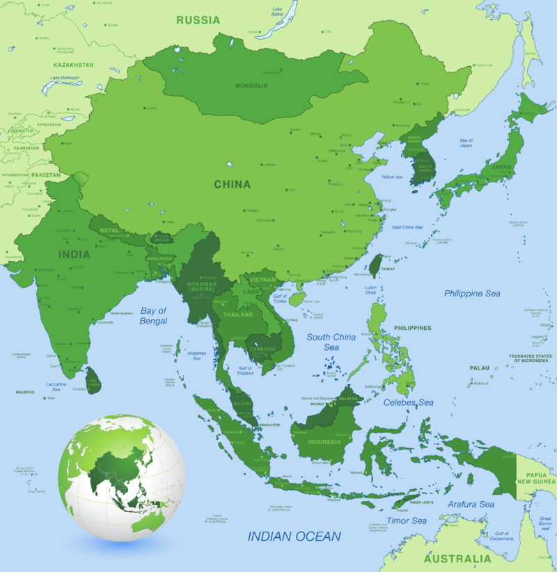 Detailed map of Southeast Asia
