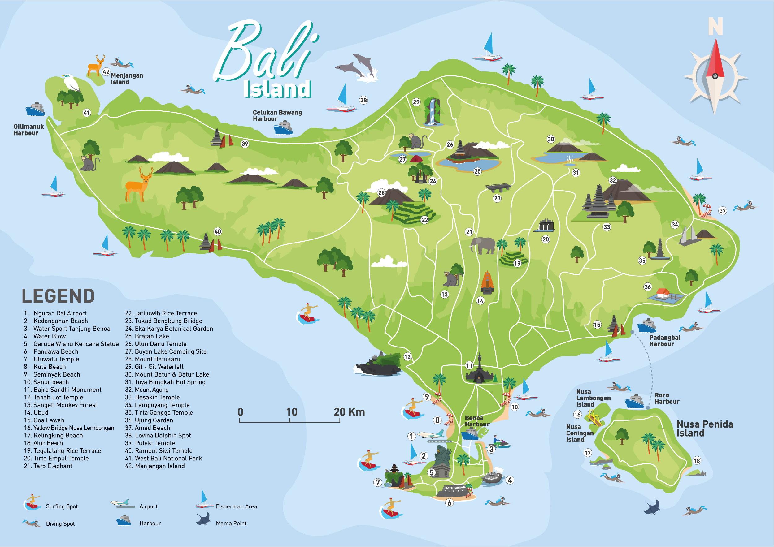 Mapy Bali Ke Stazeni Vyber Nejlepsich Map Ostrova