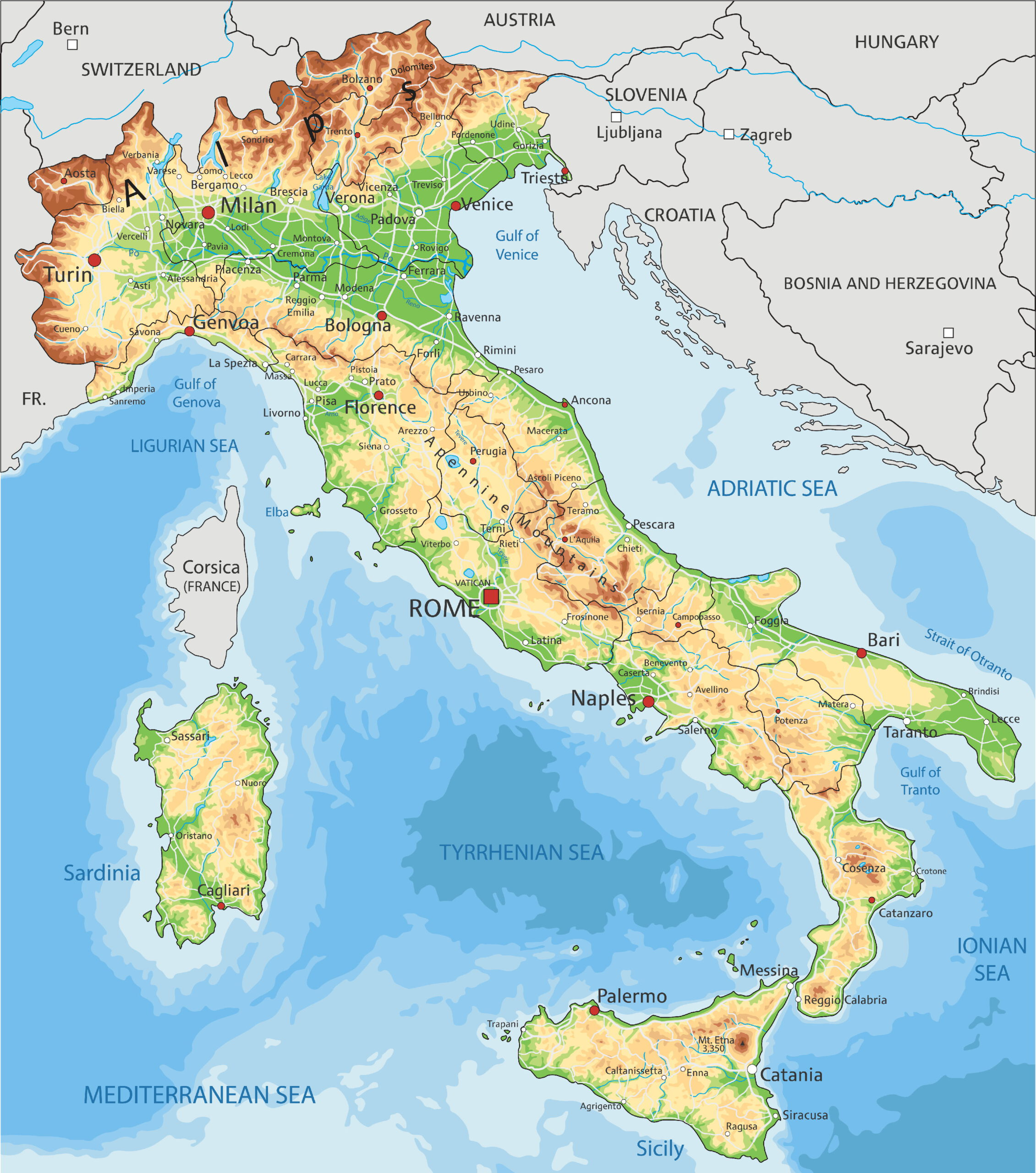 Mapy Italie Vyber 10 Nejlepsich Zdarma Ke Stazeni
