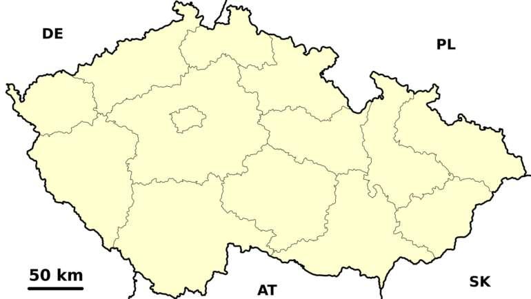 Slepá mapa ČR – Vzory ke stažení zdarma