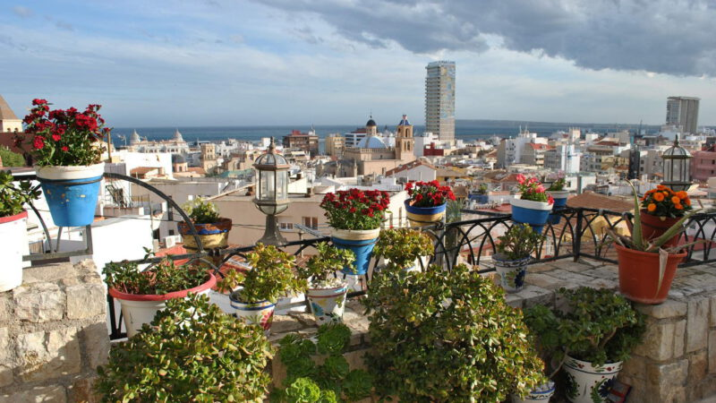 View of the Spanish city of Alicante