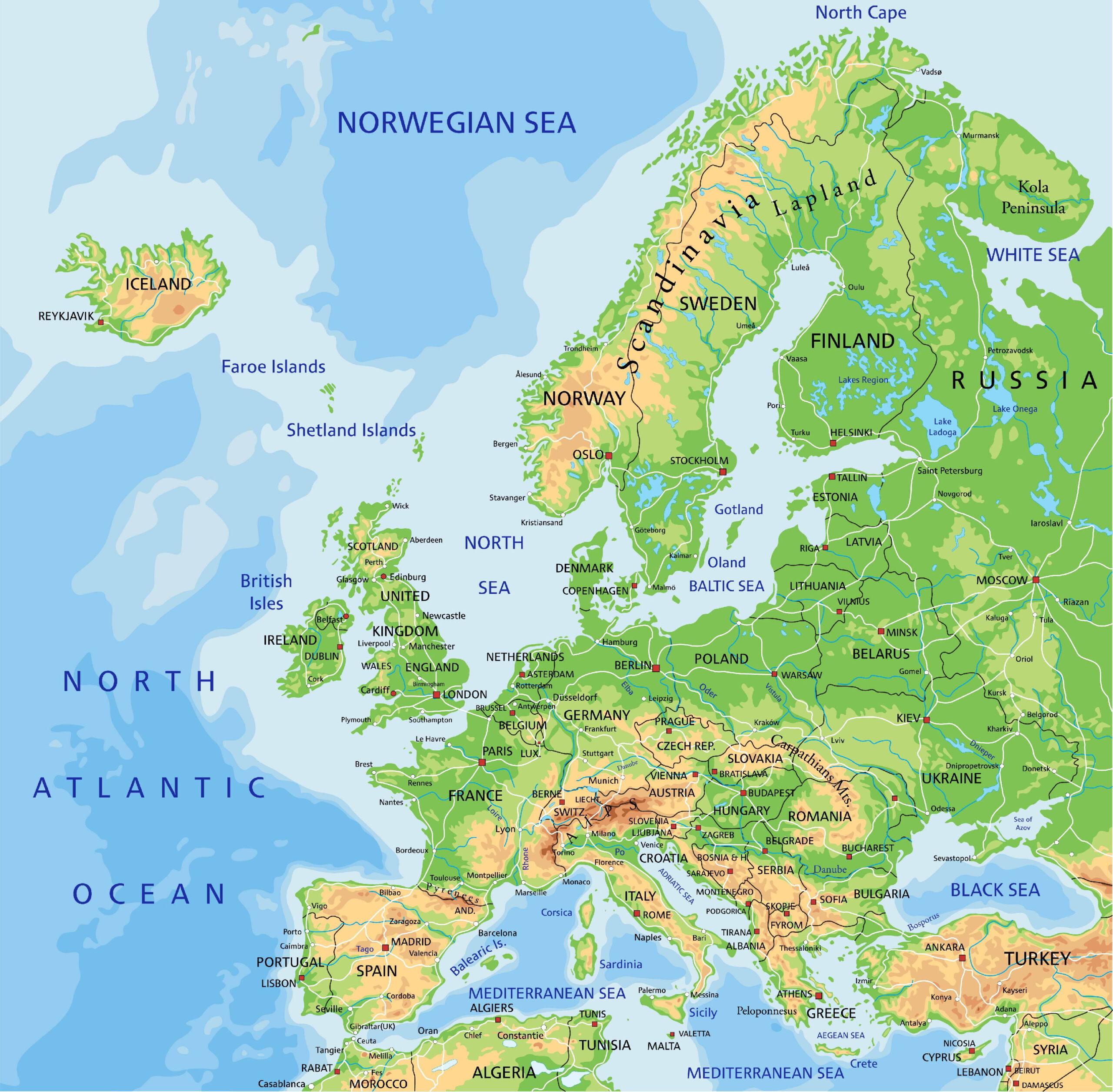 Mapy Evropy Ke Stazeni Vyber Nejlepsich Map